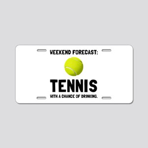 Weekend Forecast Tennis Aluminum License Plate