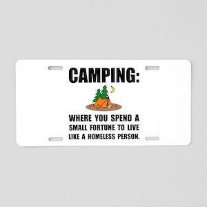 Camping Homeless Aluminum License Plate