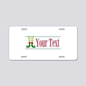 Personalizable Elf Feet Aluminum License Plate