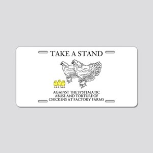 Take A Stand Aluminum License Plate