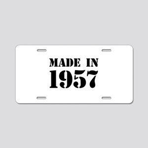 Made in 1957 Aluminum License Plate