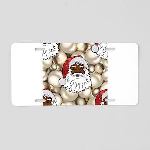 african santa claus Aluminum License Plate