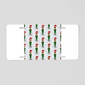 barack obama santa Aluminum License Plate