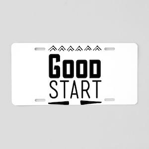 Good start Aluminum License Plate