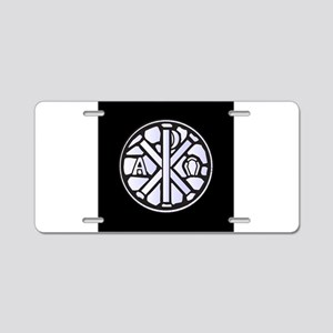 Alpha Omega Glass Window Aluminum License Plate