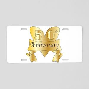 50th Anniversary Heart Aluminum License Plate