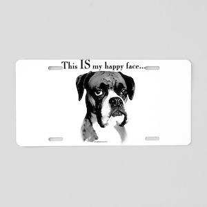Boxer Happy Face Aluminum License Plate