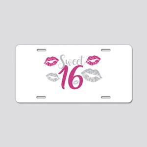 Sweet Sixteen 16 Birthday G Aluminum License Plate