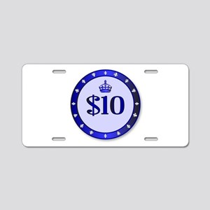 10 Dollar Chip Aluminum License Plate