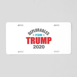 Deplorables for Trump 2020 Aluminum License Plate