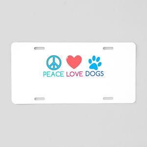 peace Aluminum License Plate