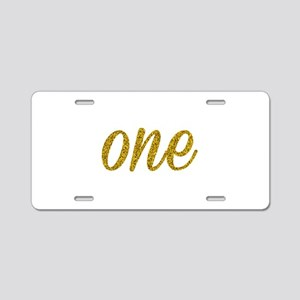 One Script Aluminum License Plate