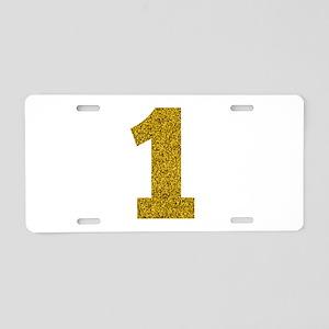 Number 1 Aluminum License Plate