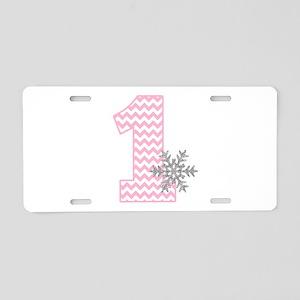 Snowflake 1 Aluminum License Plate
