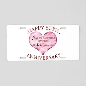 50th. Anniversary Aluminum License Plate