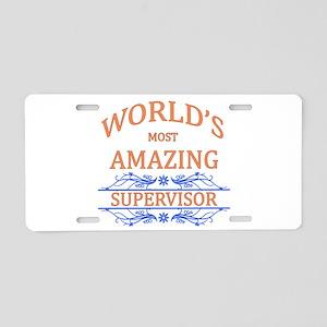 Supervisor Aluminum License Plate
