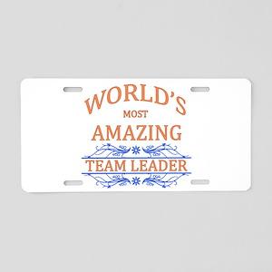 Team Leader Aluminum License Plate