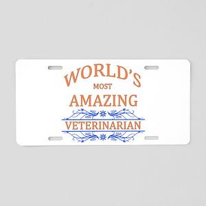 Veterinarian Aluminum License Plate