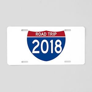 Road Trip 2018 Aluminum License Plate