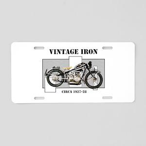 1927-28 Vintage Iron Aluminum License Plate