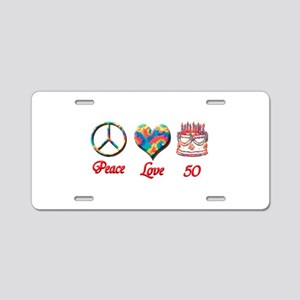 50th. Birthday Aluminum License Plate