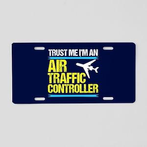 Air Traffic Controller Aluminum License Plate