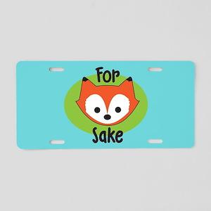 For Fox Sake Aluminum License Plate