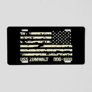 USS Zumwalt Aluminum License Plate
