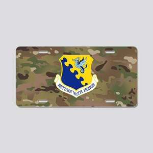 31st Fighter Wing Aluminum License Plate