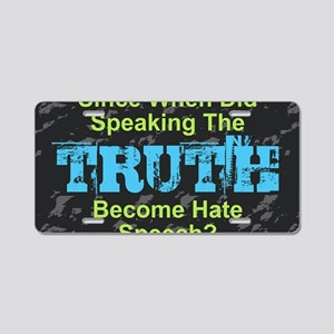 Truth Aluminum License Plate