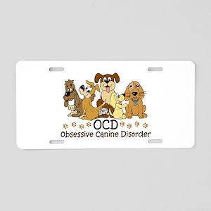 OCD Obsessive Canine Disord Aluminum License Plate