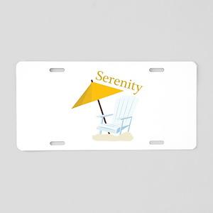 Serenity Aluminum License Plate