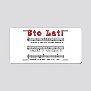 Sto Lat! Song Aluminum License Plate