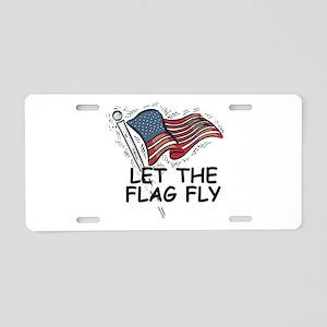 Patriotic American Flag Aluminum License Plate