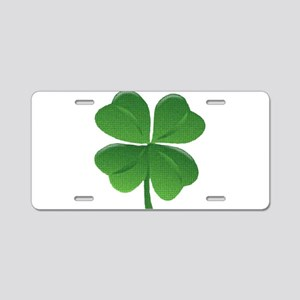St Patrick Shamrock T Aluminum License Plate