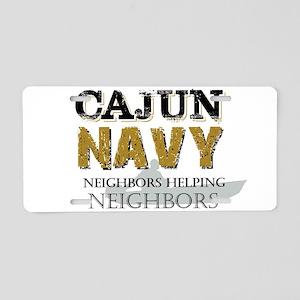 The Cajun Navy Neighbors He Aluminum License Plate