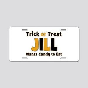 Jill Trick or Treat Aluminum License Plate