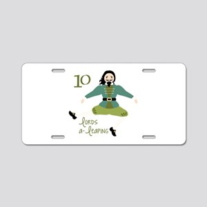 10 loRDS a- leaPiNG Aluminum License Plate