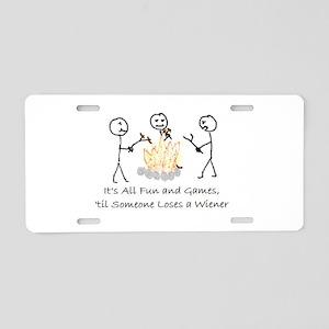 Lost Wiener Aluminum License Plate