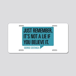 Seinfeld: George Lie Aluminum License Plate