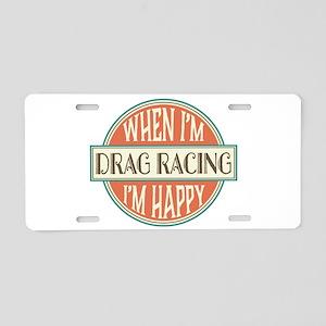 happy drag racer Aluminum License Plate