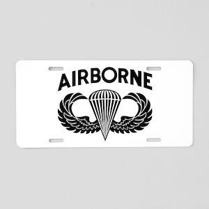 Jump Wings Stencil Aluminum License Plate