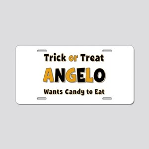Angelo Trick or Treat Aluminum License Plate