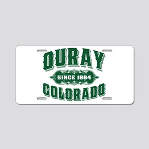 Ouray Since 1884 Green Aluminum License Plate