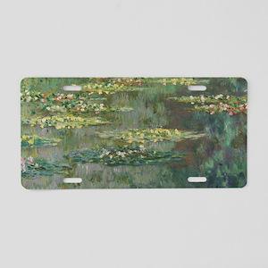 Waterlilies by Claude Monet Aluminum License Plate