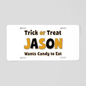 Jason Trick or Treat Aluminum License Plate