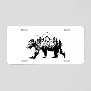 Bear Woods Aluminum License Plate