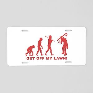 Grumpy Old Man Aluminum License Plate