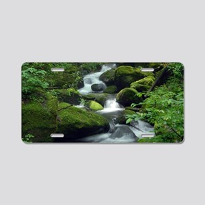 Summer Forest Brook Aluminum License Plate