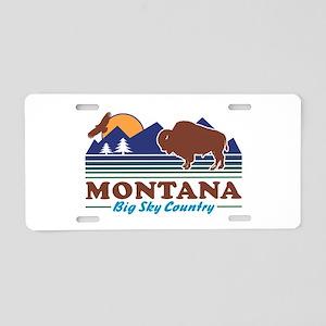 Montana Big Sky Country Aluminum License Plate